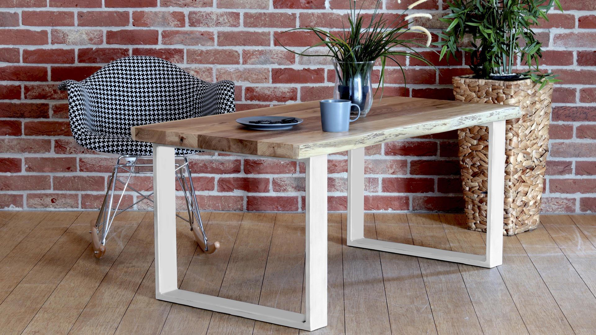 Stół kawowy kverko w kolorze białym