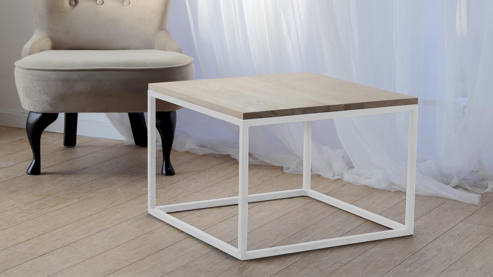Nowoczesny stolik kawowy biała noga