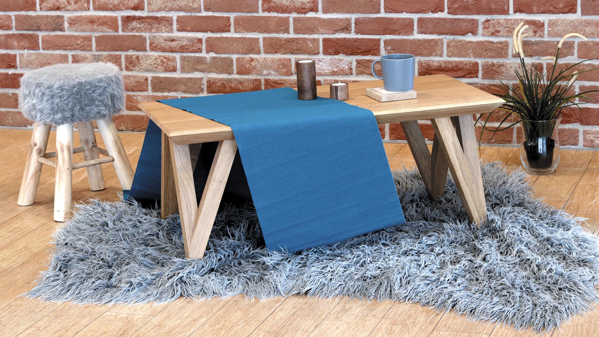 Mały stolik do salony dębowy