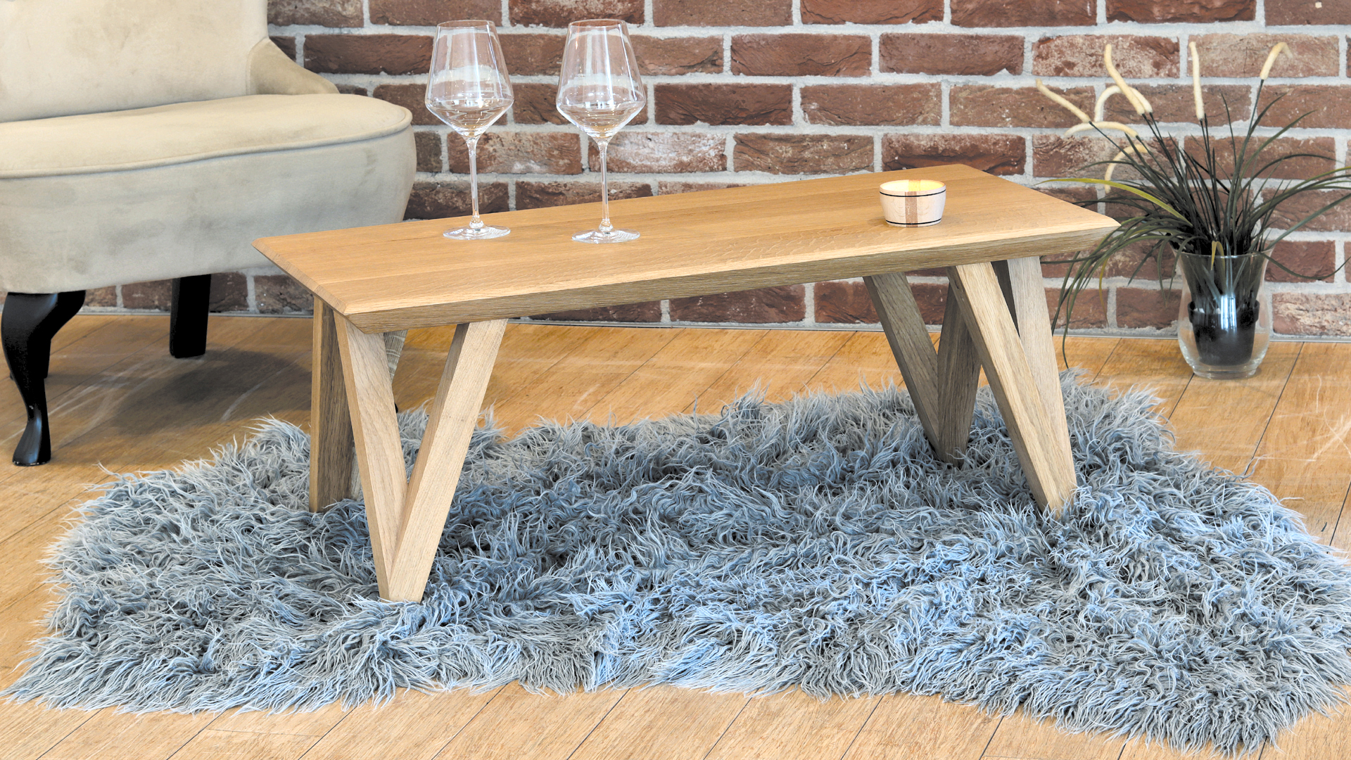 Małe stoliki lite drewno