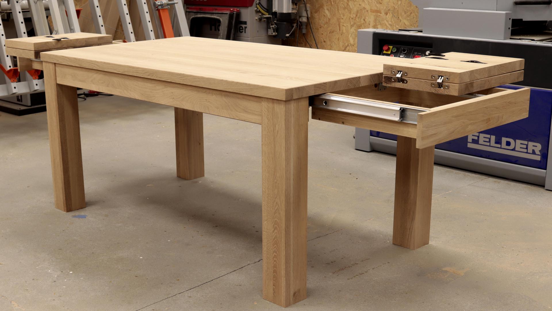 Stół dębowy rozkładany Kverko