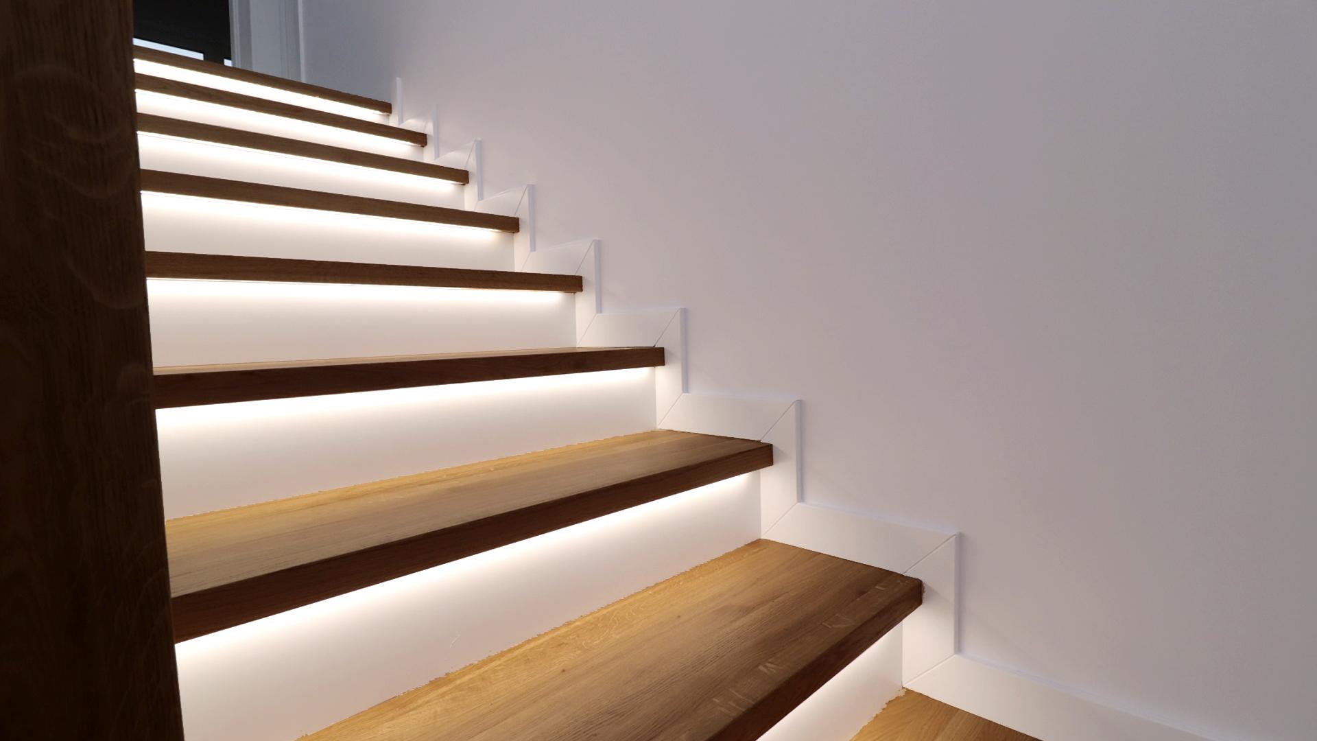 Drewniane stopnice schodowe